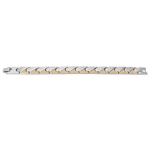 Magnetisches Armband Gelb Silber, Magnetische Schmerzlinderung Magnetisches Armband Handgelenkband...