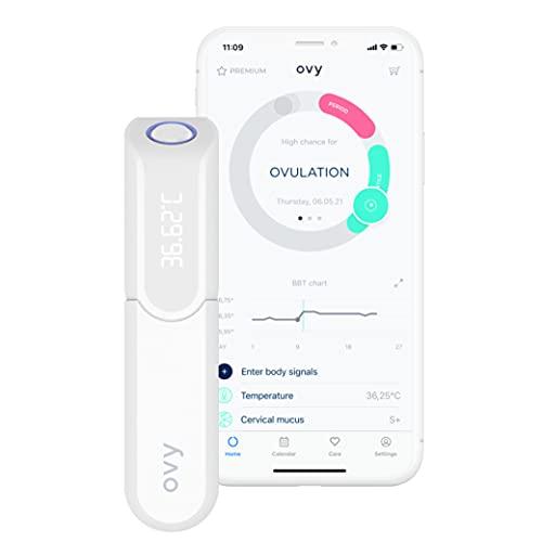 Ovy® Bluetooth Basalthermometer zur Zykluskontrolle I Eisprung-Messgerät zur Berechnung...