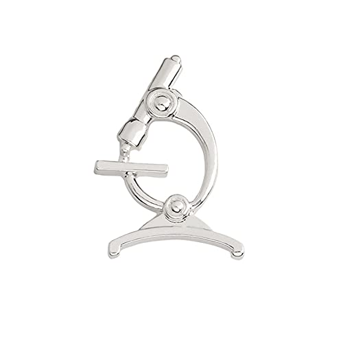 PASDD Mikroskop Brosche Pins Geschenk für Ärzte Labor Anstecknadel Abzeichen Pins und Broschen...