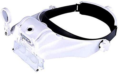 aipipl Beleuchtete Kopflupen Visier-Headset mit Leichter Stirnband-Lupen-Lupe Freisprecheinrichtung...
