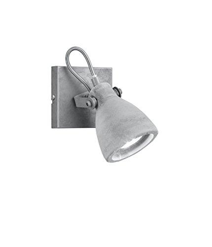 Trio Leuchten Balken Concrete 802500178, Metall, Schirm Beton, 1 x GU10
