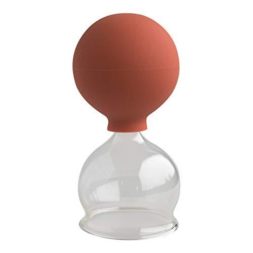 Schröpfglas mit Saugball 50mm zum professionellen, medizinischen, feuerlosen Schröpfen...