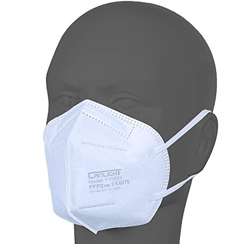 AUPROTEC 50 Stück FFP2 Maske Atemschutzmaske EU CE 0370 Zertifiziert EN149:2001+A1:2009 Mundschutz...