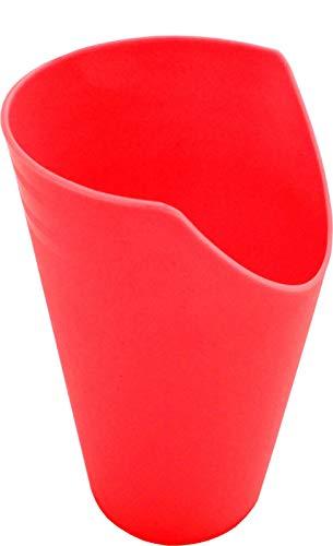 Pflegehome24® Trinkbecher mit Nasenausschnitt, rot- Krankentasse Trinkhilfe