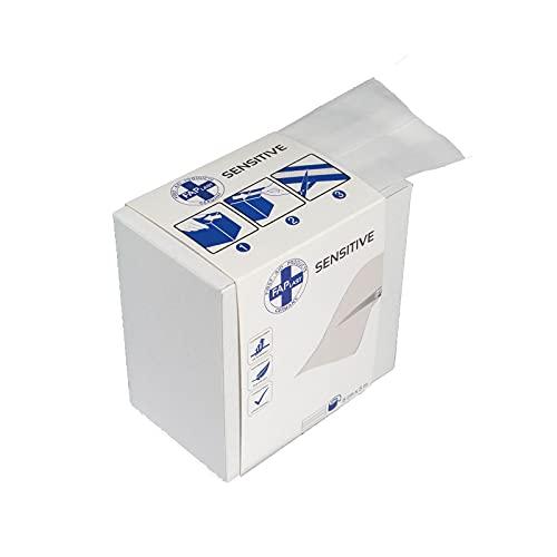 HierBeiDir Sensitive Wundschnellverband, elastisch, luftdurchlässig, hautfreundlich, hypoallergen,...