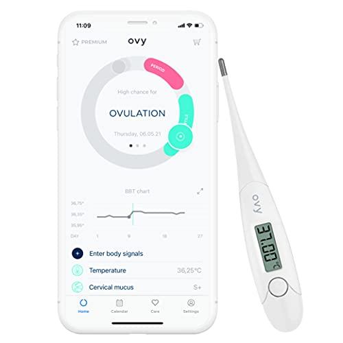 Ovy® Basalthermometer zur Zykluskontrolle I Eisprung-Messgerät zur Berechnung fruchtbarer Tage bei...
