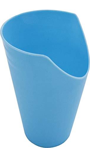 Pflegehome24® Trinkbecher mit Nasenausschnitt, blau - Krankentasse Trinkhilfe