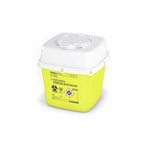 B.Braun Medibox® Entsorgungsbehälter Sammelbehälter Kanülenbehälter Kanülenbox, 4,7 Liter