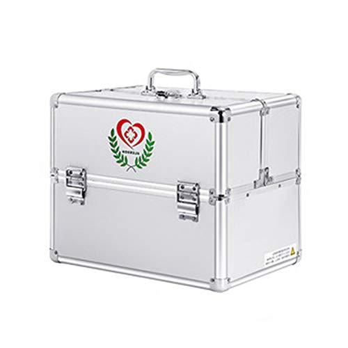 Yiyu Erste Hilfe Koffer Medizin-Box,Hausapotheke Schrank Ablageboxen Tragbare Medizin Box Mit Griff...