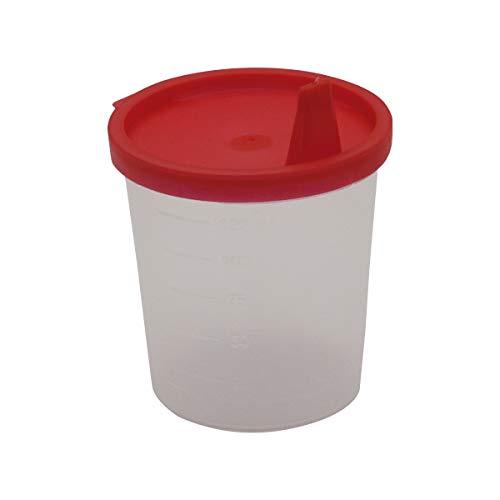 Urinbecher Premium Rot 50 Stück   125 ml Fassungsvermögen bis 125 ml graduiert   auslaufsicherer...