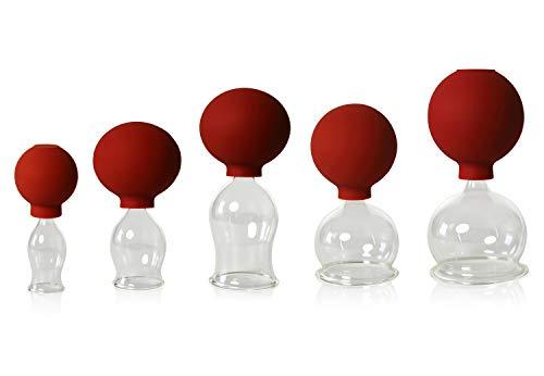 5er Schröpfglas-Set mit Ball 20-30-40-50-60mm zum professionellen, medizinischen,feuerlosen...