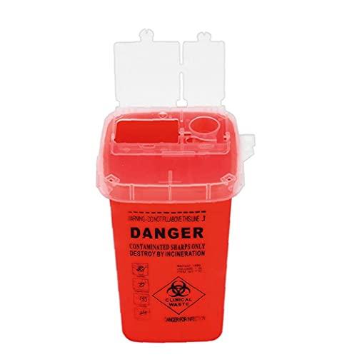 Murezima Sharps Bin Plastic Rasierer Entsorgung Tätowierer Piercing Nadeln Abfallbox Container Rote...