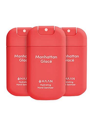 HAAN Manhattan Glacé Desinfektionsmittel für die Hände, feuchtigkeitsspendend, 3 Stück, 3...
