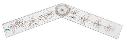 Winkelmesser   Gelenkmesser   Goniometer aus Kunststoff, Länge: 21 cm