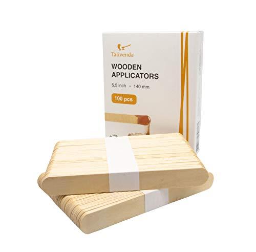 Spatel Kosmetik,Spatel Holz,Mundspatel,Eisstiele aus Holz,Spatel für Haarentfernung mit Wax,Wachs...