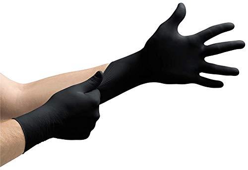 100 Stück Latexhandschuhe in Spender-Box puderfrei, nicht steril Einweghandschuhe Einmalhandschuhe...