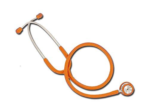 Wan Dual Head Stethoskop, Orange, leicht verchromtem Krankenschwester Stethoskop