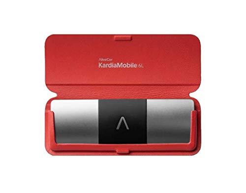 AliveCor Kardia Mobile 6L Bundle mit Schutzhülle, Rot