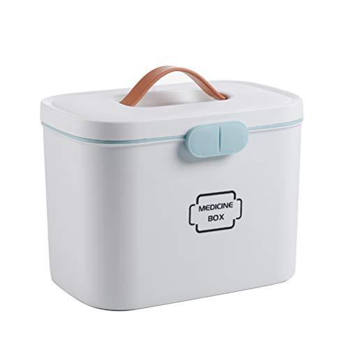 Ysoom Medizinbox 27 x 18 x 17 cm Plastik Erste Hilfe Box Aufbewahrungskasten Medizin Box mit Griff...
