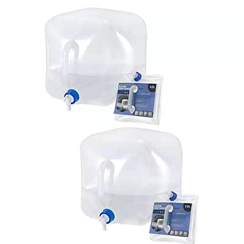 RISEPRO Faltbarer Wasserbehälter mit Zapfhahn, 10L BPA-freier Wasseraufbewahrungskrug Wasserflasche...