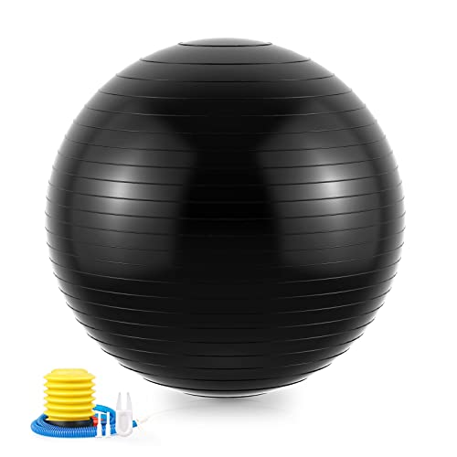 CHEPULA Gymnastikball, 65cm/75cm Fitness Yoga Ball mit Pumpe, Dicker Anti-Burst Fitnessball Yogaball...