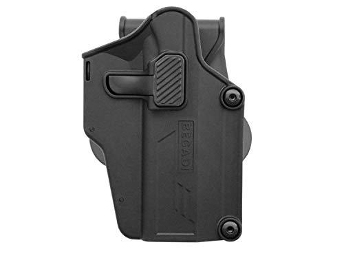 BEGADI Airsoft 'Multi Fit' Hartschalen - Holster mit Paddle, für viele Softair Pistolen, schwarz