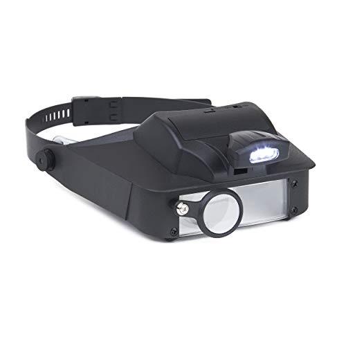 Carson LumiVisor Kopflupe mit 2x/3x/5x/6x Vergrößerung und LED-Beleuchtung schwarz