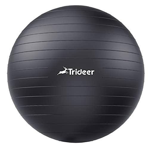 Trideer Dicker Gymnastikball, Anti-Burst Pilates Ball, 45-85 cm sitzball büro,für Balance, Yoga...