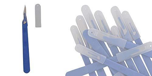10x Einwegskalpell Klinge Figur 11, Kosmetex Einmal Skalpelle, einzeln steril verpackt mit...
