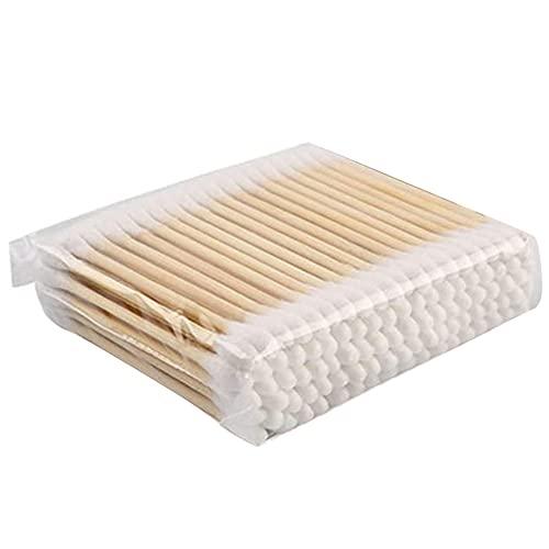 Bambus-baumwollknospen Umweltfreundliche Baumwolle Ohrknospen Tupfer Mit Bambusgriff Recycelbarer...