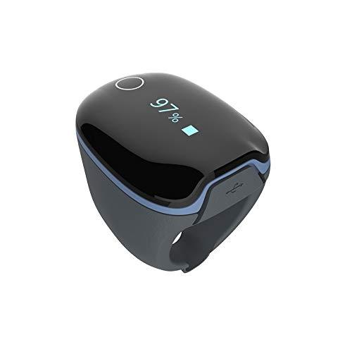 Trendmedic O2 Pulsoximeter in Ringform - SpO2-Schlafmonitor mit App für iOS/Android - O2 Ring
