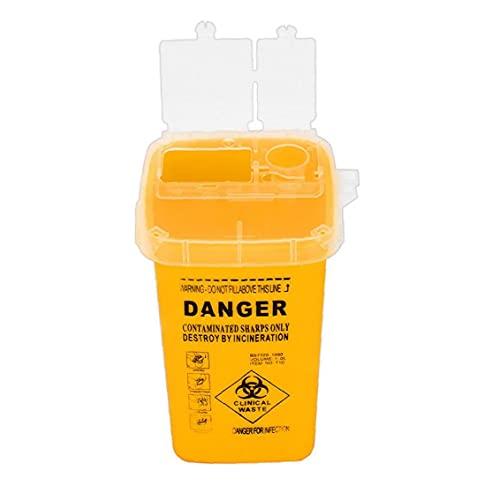 Obelunrp Sharps Bin Plastic Rasierer Entsorgungskoffer Tattoo Piercing Nadeln Abfallbox Container...