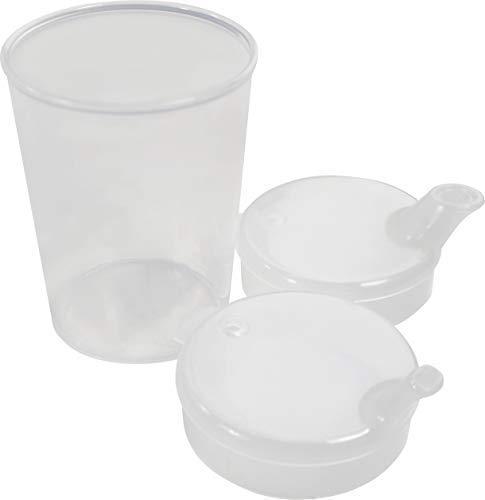 Medi-Inn Schnabelbecher 250 ml Praktisches Set: 5 Unterteile mit 10 Deckeln (5 x mit Öffnung 12 x...