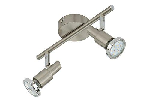 Briloner Leuchten LED Deckenleuchte, 2 dreh- & schwenkbare LED-Spot-Lights, Decken-Lampe, Metall,...