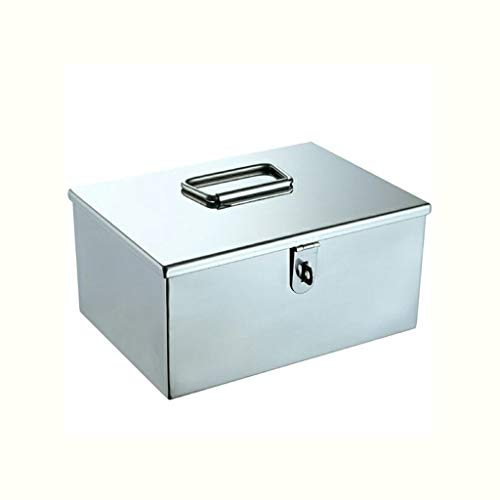 Zoavash Metall Medizin Box Tragbare Erste-Hilfe-Kit Multifunktions-Medizin Box Aufbewahrungsbox...