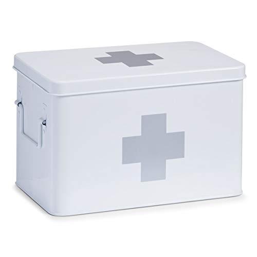 Zeller 18119 Medizin-Box, weiß, ca. 32 x 19,5 x 20 cm