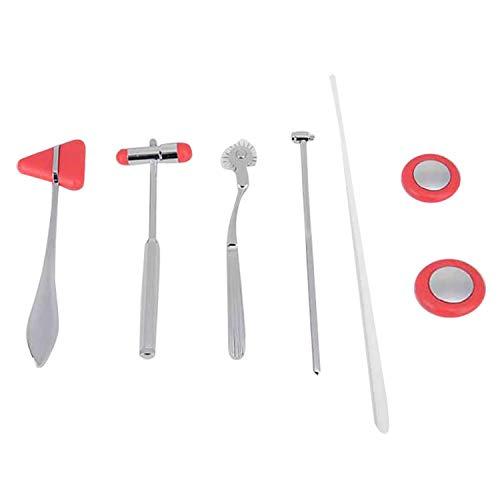 CareMont 5 im 1 Neurologisches Hammer Set Diagnostisches Reflex Hammer Kit Schlagzeug Hammer Massage...