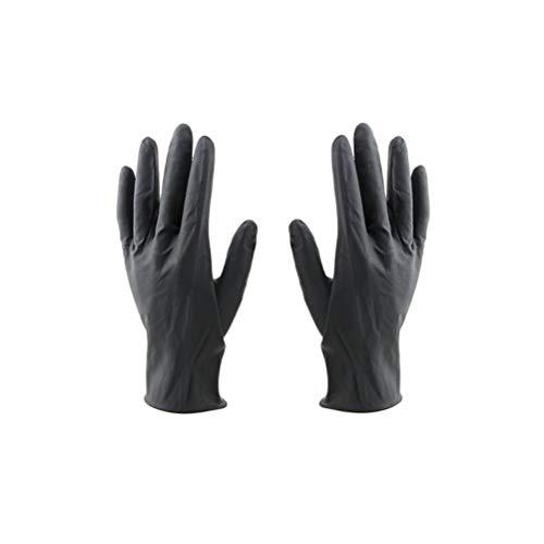 Lurrose 10 Stück Friseurhandschuhe, wiederverwendbar, Laborhandschuhe, Latex, Färbemandschuhe,...