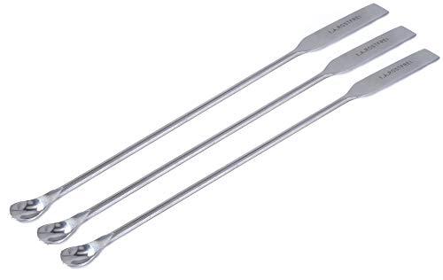 blueINOX Spar-Set 3 Mikro-Löffelspatel (Salbenspatel/Laborspatel) - doppelseitig verchromt