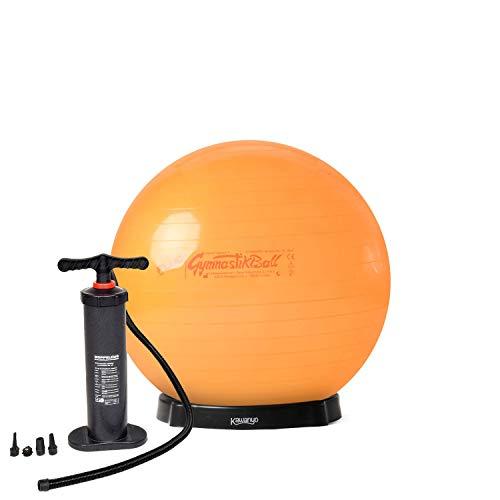 Original Pezzi® Gymnastikball STANDARD Fluo orange 42 cm mit Pumpe & Ballschale