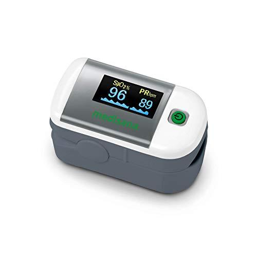 medisana PM 100 Pulsoximeter, Messung der Sauerstoffsättigung im Blut, Fingerpulsoxymeter mit...