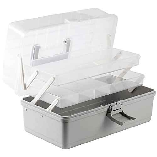 TNWZC Hausapotheke Aufbewahrungsboxen mit Griff, 3 Ebene Make-up-Organizer-Box Mit Deckel...