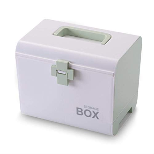 Venuy 26.5x18.5x22cm Tragbare Erste Hilfe Kit Kunststoff Droge Multifunktionale Medizin Schrank...