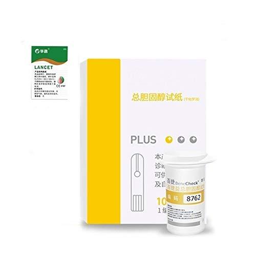 PLMN 3 in 1 Cholesterol Testsensoren, Überprüfen Sie Cholesterin, Harnsäure und Blutzucker mit...