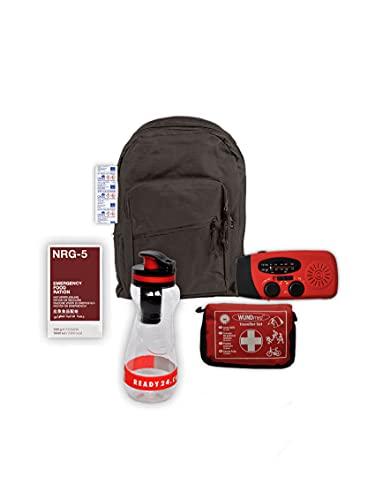 Ready24 Notfallrucksack gefüllt, 35-teilig, 1 Person, 24 Stunden, für die Evakuierung