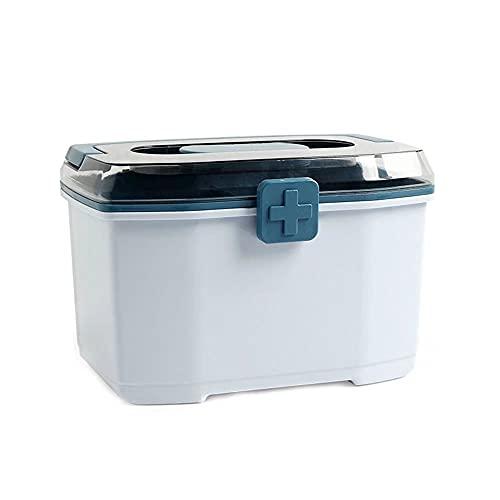 ZJYWAN Erste-Hilfe-Koffer Aufbewahrungsbox Organizer Haushalt, Medizinschrank Transparent Plastikbox...