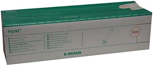 BRAUN INJEKT Spritzen m. exzentr. Konus Luer, 100X5 ml