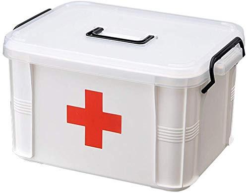 Baffect Double Layer Box Medizinische Aufbewahrungsbox Chest, Hand tragen Medizin Pille Speicher...