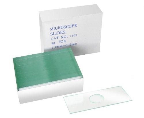 Bresser Mikroskop 50x Objektträger mit Vertiefung zur Untersuchung von Flüssigkeiten und...