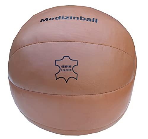 Lisaro Original Medizinball aus Echtleder – Superqualität, Vintage Retro Look, Gymnastik/Fitness...
